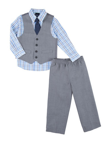 Nautica Four-Piece Heathered Formalwear Set-GREY-2