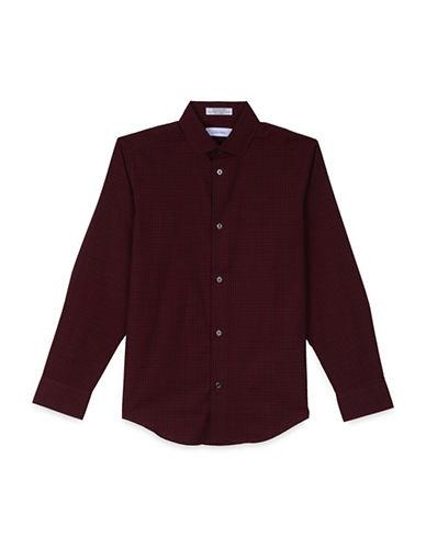 Calvin Klein Check Shirt-RED-10