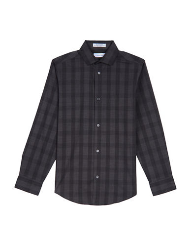 Calvin Klein Plaid Shirt-GREY-12