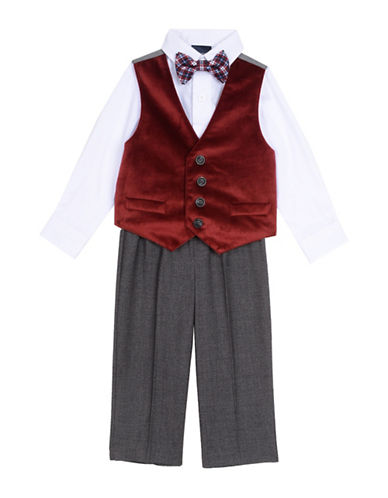 Nautica Four-Piece Suit Set-RED-2