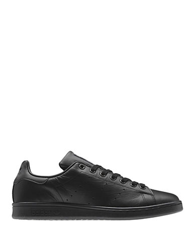 Adidas Stan Smith Originals Leather Sneakers-BLACK-9.5