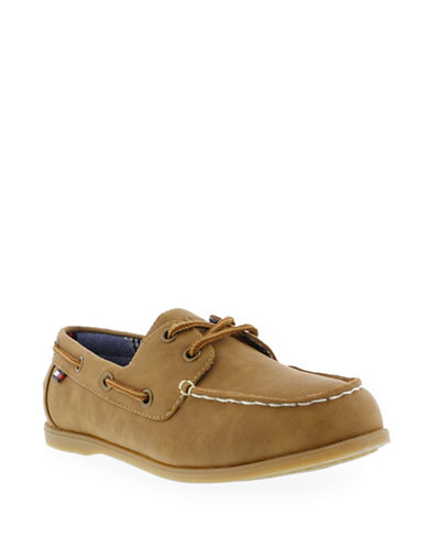 Tommy Hilfiger Douglas Boat Shoes-BROWN-11