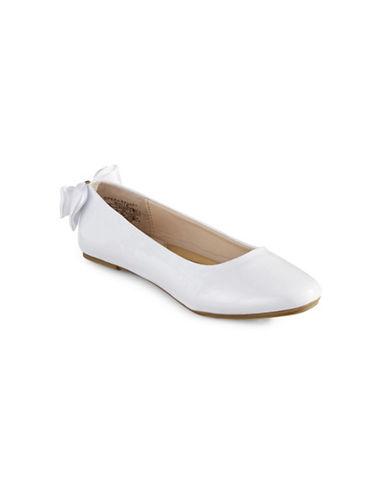 Ivanka Trump Patent Opera Ballet Flats-WHITE-1