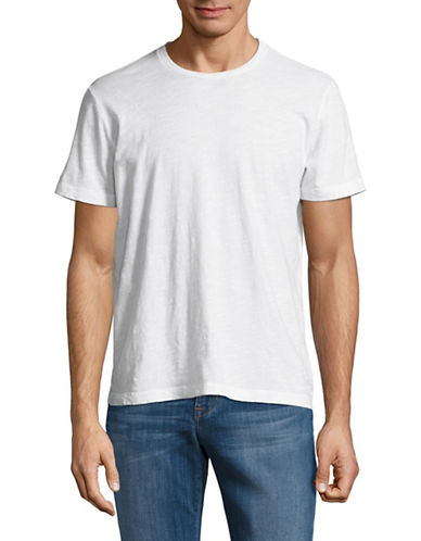 Velvet By Graham And Spencer Slub Knit T-Shirt-WHITE-Large