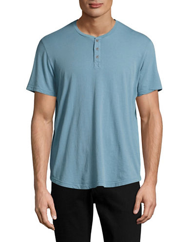 Velvet By Graham And Spencer Classic Whisper Henley-BLUE-X-Large