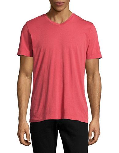 Velvet By Graham And Spencer Classic Whisper V-Neck T-Shirt-RED-Small