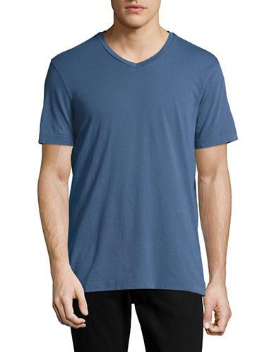 Velvet By Graham And Spencer Classic Whisper V-Neck T-Shirt-BLUE-XX-Large