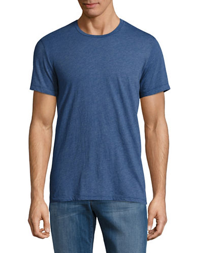 Velvet By Graham And Spencer Heathered Jersey T-Shirt-BLUE-Large