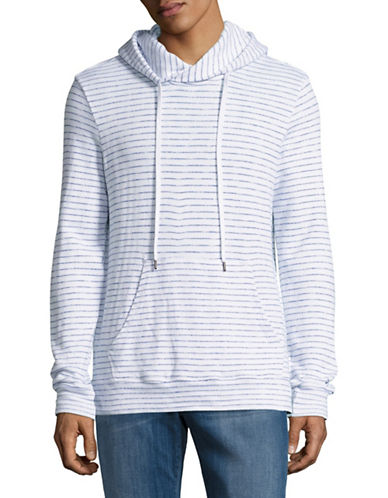 Velvet By Graham And Spencer Beach Stripe Terry Hoodie-WHITE-X-Large