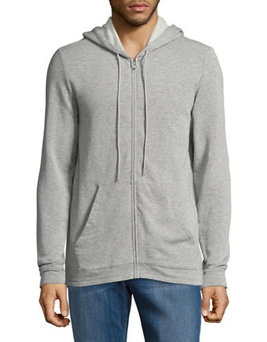 Velvet By Graham And Spencer Luxe Fleece Hoodie-GREY-Large