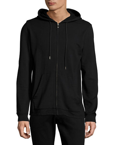 Velvet By Graham And Spencer Luxe Fleece Hoodie-BLACK-Small
