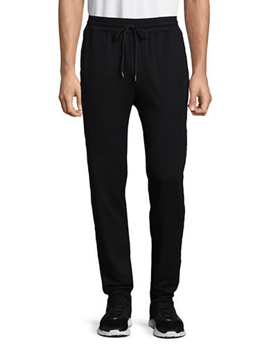 Velvet By Graham And Spencer Luxe Fleece Jogging Pants-BLACK-Large