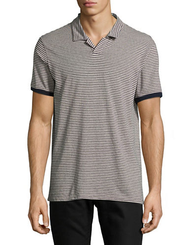 Velvet By Graham And Spencer Double Stripe Polo-BEIGE-Medium