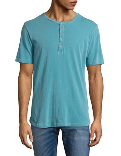 Velvet By Graham And Spencer Pigment Dye Henley-BLUE-Small