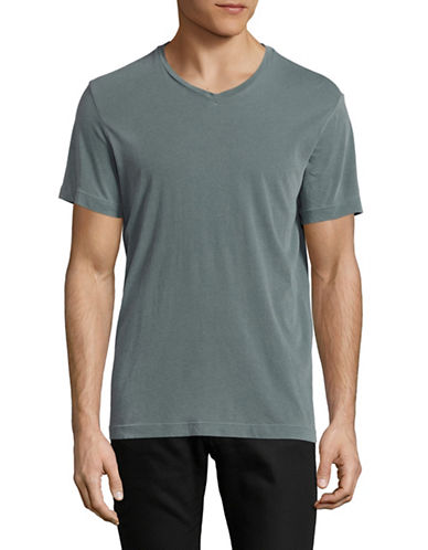 Velvet By Graham And Spencer Pigment Dye Whisper T-Shirt-GREEN-Small