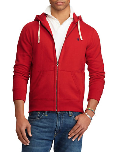 Polo Ralph Lauren Full-Zip Fleece Hoodie-RL2000 RED-Small