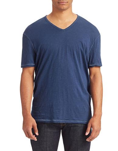 John Varvatos Star U.S.A. V-Neck Slub T-Shirt-COBALT-Medium