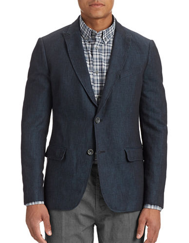 John Varvatos Star U.S.A. Peak Lapel Blazer-OFFICER BLUE-40