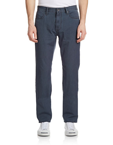 John Varvatos Star U.S.A. Bowery Pinstriped Jeans-NAVY-32