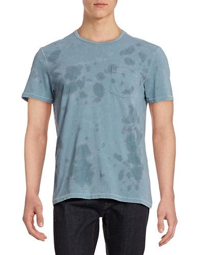 John Varvatos Star U.S.A. Splotch Print T-Shirt-OCEAN BLUE-X-Large