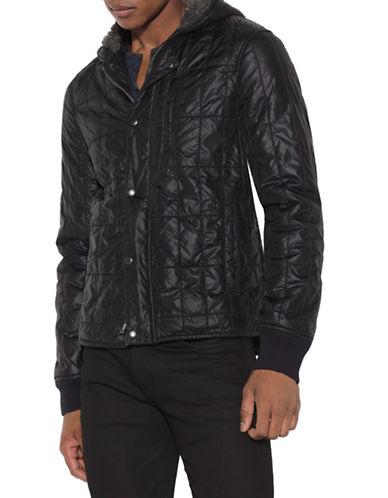 John Varvatos Star U.S.A. Faux Fur-Lined Quilted Jacket-BLACK-X-Large 88651231_BLACK_X-Large