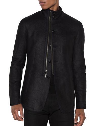 John Varvatos Star U.S.A. Coated Cotton Jacket-MIDNIGHT-Small