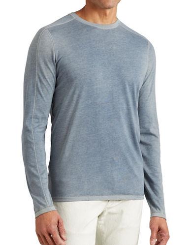 John Varvatos Star U.S.A. Knit Crew Neck Tee-BLUE-X-Large 88807696_BLUE_X-Large