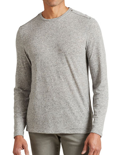 John Varvatos Star U.S.A. Long Sleeve Knit T-Shirt-GREY-Small