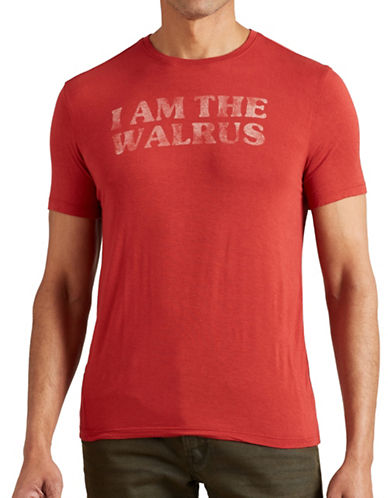 John Varvatos Star U.S.A. I am the Walrus T-Shirt-RED-X-Large 88807790_RED_X-Large