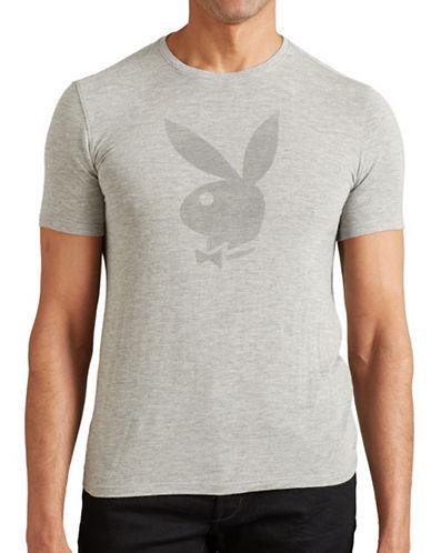 John Varvatos Star U.S.A. Playboy Bunny Graphic Tee-GREY-Small 88807799_GREY_Small