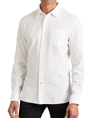 John Varvatos Star U.S.A. Slim-Fit Sport Shirt-WHITE-Large