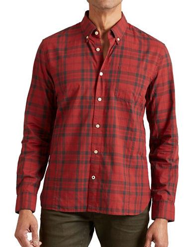 John Varvatos Star U.S.A. Slim-Fit Plaid Shirt-RED-X-Large