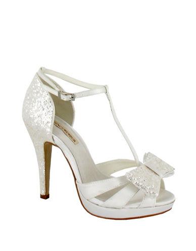 Menbur Stiletto T-Bar Platform Bridal Heels-IVORY-8