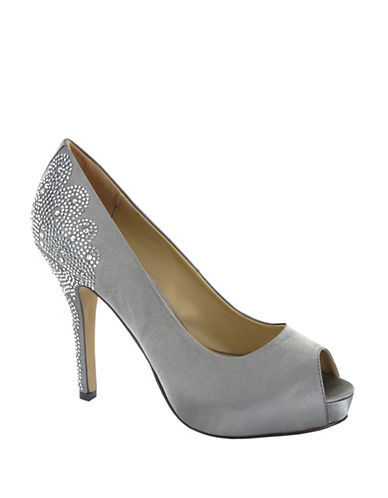 Menbur Sanco Peep Toe Pumps-GREY-7