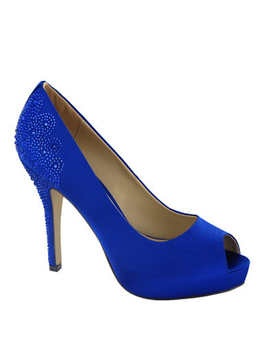Menbur Sanco Peep Toe Pumps-BLUE-6