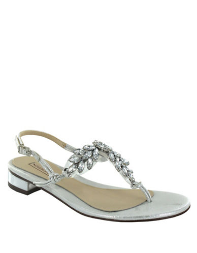Menbur Delia Glitter Thong Sandals-IVORY-9