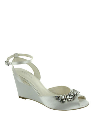 Menbur Esther Satin Wedge Sandals-IVORY-10