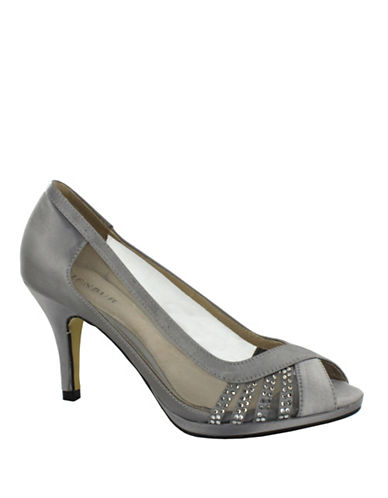 Menbur Balcones Peep-Toe Pumps-GREY-8