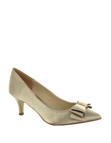 Menbur Pechora Satin Pumps-STONE-9