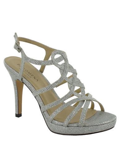 Menbur Begonia Stone Embellished Platform Sandals-SILVER-9