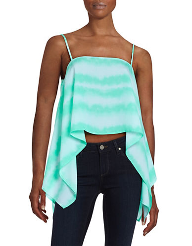 Design Lab Lord & Taylor Asymmetrical Cropped Top-GREEN-Large 88378744_GREEN_Large