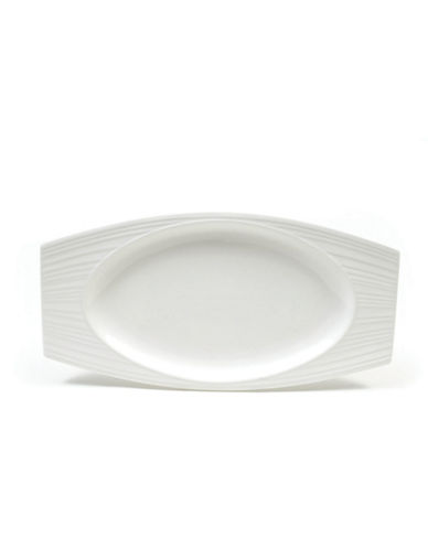 Maxwell & Williams Cirque Rectangular Oval Platter-WHITE-Large