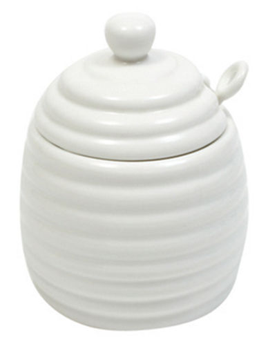 Maxwell & Williams White Basics Honey Pot with Spoon-WHITE-One Size