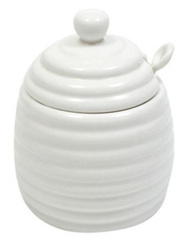 Maxwell & Williams White Basics Honey Pot with Spoon-WHITE-One Size