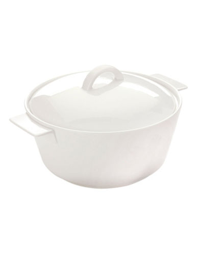 Maxwell & Williams Soho Round Casserole Dish-WHITE-One Size