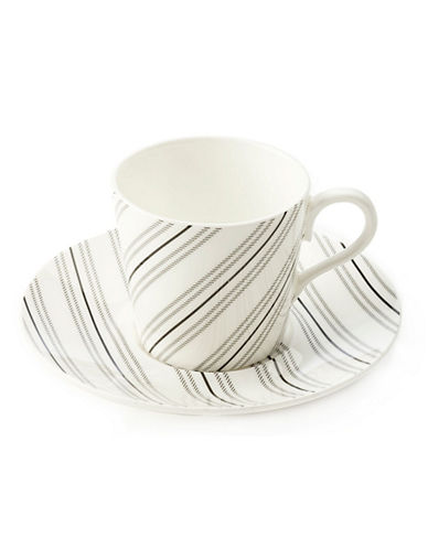 Maxwell  williams Art Deco Stripe Demi Cup And Saucer white One Size