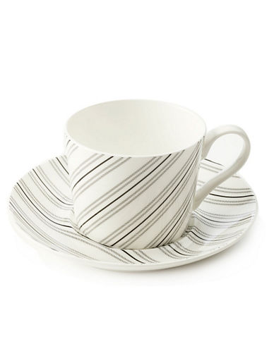 Maxwell  williams Art Deco Stripes Cup And Saucer white One Size