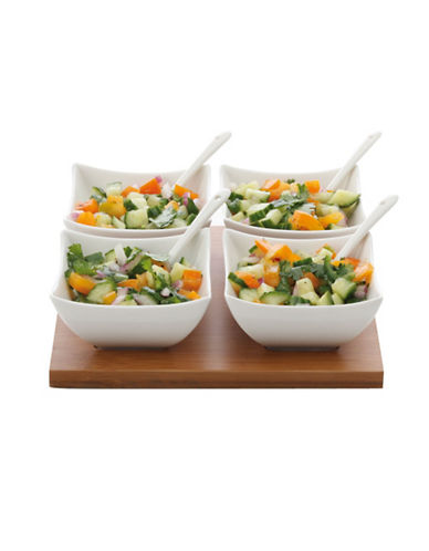 Maxwell & Williams Bamboo Salsa Set 9 Piece-WHITE-One Size