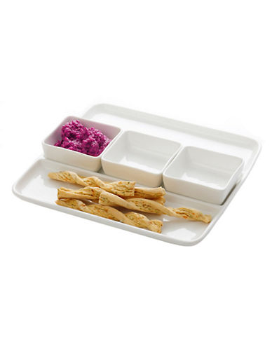 Maxwell & Williams Oslo Square Dipping Set-WHITE-One Size