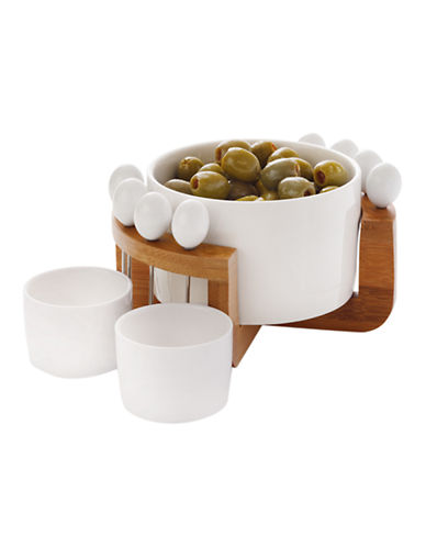Maxwell & Williams Bamboo Basics Olive Set-WHITE-12 Piece Set